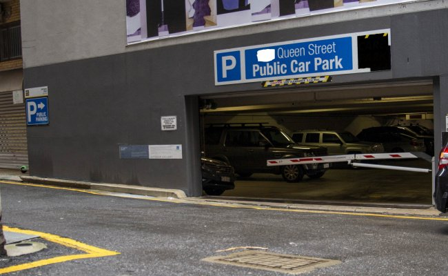 Indoor lot parking on Queen Street in Brisbane City