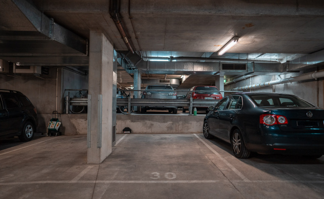 Indoor lot parking on Queensberry Street in Carlton VIC