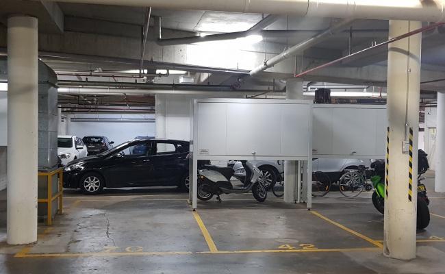 Indoor lot parking on Shirley Street in Alexandria