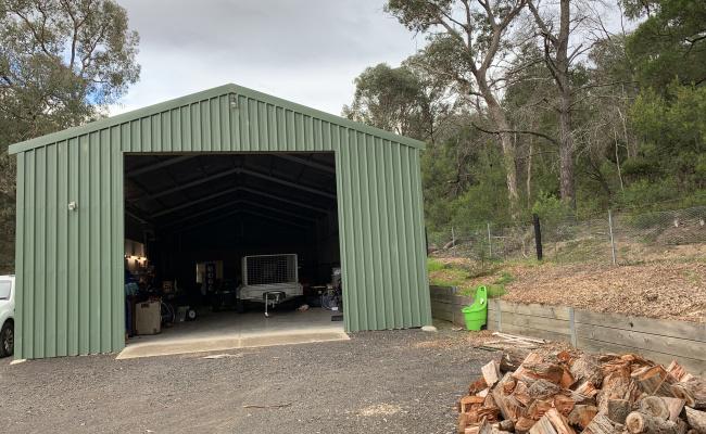Caravan, boat or motor home storage in an industrial shed