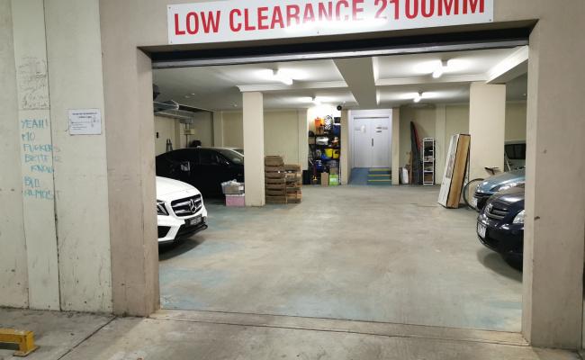 Lock up garage parking on Spring Street in Fitzroy
