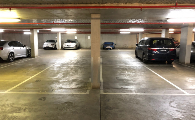 Indoor lot parking on Swanston Street in Carlton
