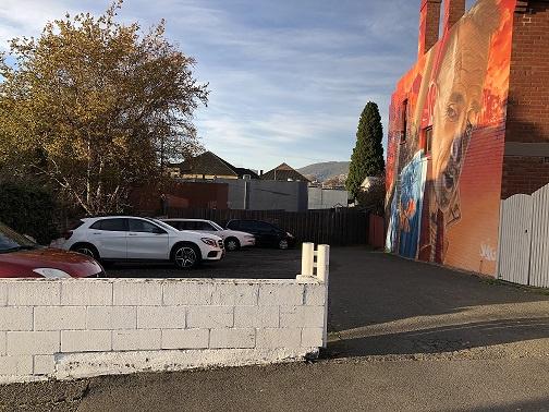 Outside parking on Tasma Street in North Hobart