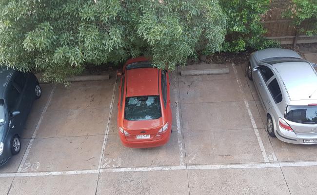 Outdoor lot parking on Toorak Road in South Yarra