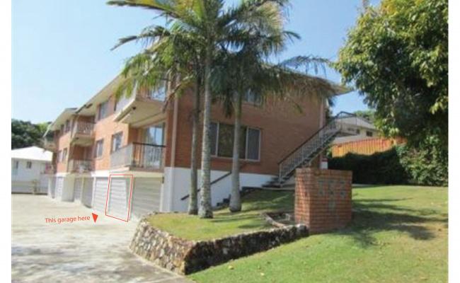 Lock up garage parking on Tweed Street in Coolangatta Queensland