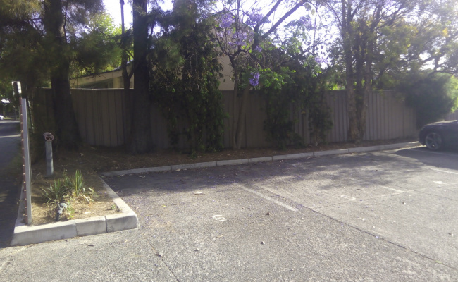 Outside parking on Tyne Place in Unley SA