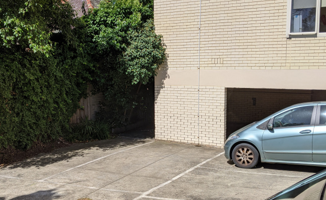 Outside parking on Vinebank Lane in South Yarra Victoria