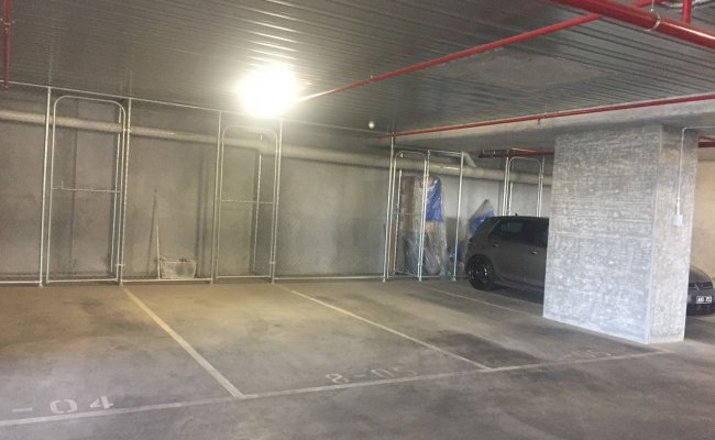 Indoor lot parking on Vision Apartments in Elizabeth Street