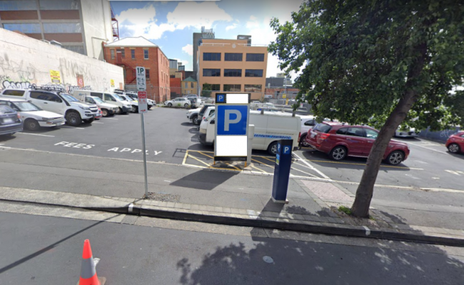 Outdoor lot parking on Watchorn Street in Hobart Tasmania