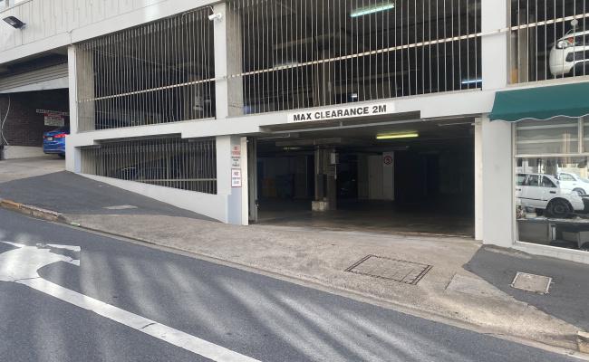 Indoor lot parking on Wickham Terrace in Spring Hill Queensland