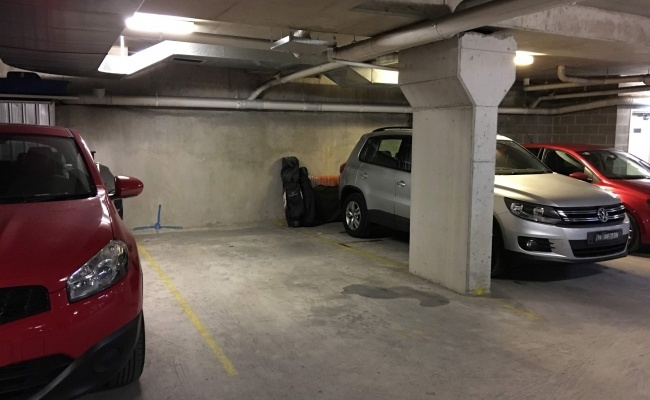 Undercover parking on Wyndham Street in Alexandria
